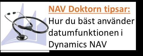Tip. Hur du bäst använder datumfunktionen i Dynamics NAV